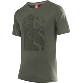 Löffler Transtex Single CF Printshirt Herren olive